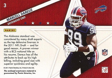 Rare Marcell Dareus Game Worn Jersey Buffalo Bills Absolute Memorabilia Card 3 - TnTCollectibles - 2