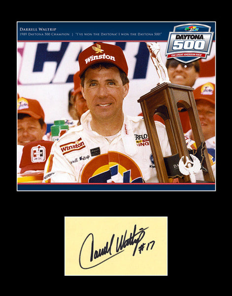 Rare Collectible Racing Legend Darrell Waltrip Signed Autograph and Photo - TnTCollectibles