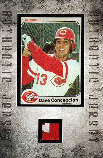 Rare Collectible Dave Concepcion Framed Cincinatti Reds Card Game Used Jersey - TnTCollectibles - 1