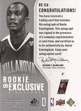 Collectible Rookie Sensation Dante Cunningham Autographed Signed Basketball Card SN /100 - TnTCollectibles - 2
