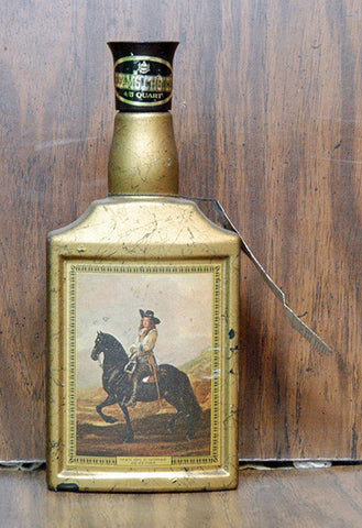 Antique Beam's Choice Bottle featuring Man on a Horse by De Keyser - TnTCollectibles - 1