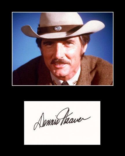 Framed Matted TV Star Dennis Weaver Hand Signed Autograph and Photo - TnTCollectibles