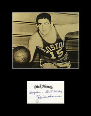 1957 NBA Champion Ned Dickie Hemric Signed Framed Matted Autograph and Photo 11x14 - TnTCollectibles
