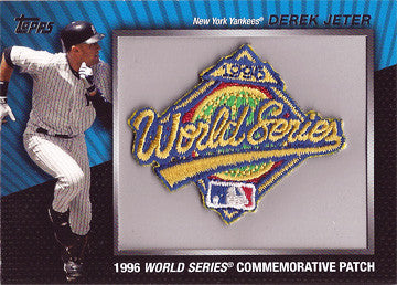 2010 Derek Jeter New York Yankees Topps 2006 Commemorative World Series Patch - TnTCollectibles - 1