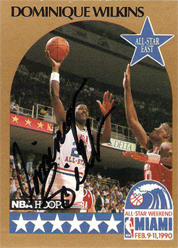 Dominique Wilkins Autographed Hand-Signed All-Star Card 1990 - TnTCollectibles