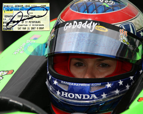 Danica Patrick Rare Racing Collectible Framed Autographed Signed Ticket n Photo - TnTCollectibles