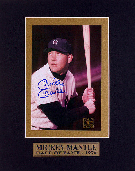 NY Yankees Sports Memorabilia Mickey Mantle Hand-Signed Autographed Photo - TnTCollectibles