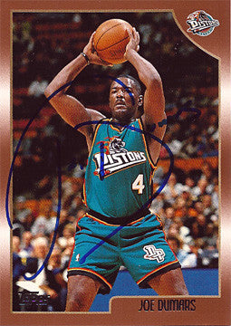 2x NBA Champion Joe Dumars Autograph Hand Signed Card - TnTCollectibles
