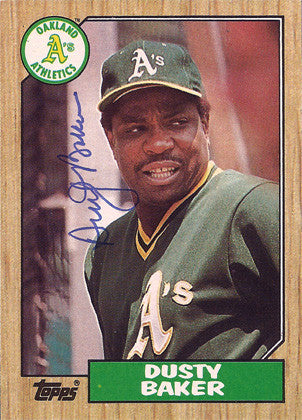 Dusty Baker Autographed Signed Oakland A's Baseball Card - TnTCollectibles