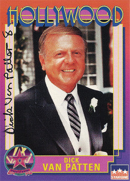 Rare Collectible TV Star Dick Van Patten Autograph Hollywood Walk of Fame Card - TnTCollectibles - 1