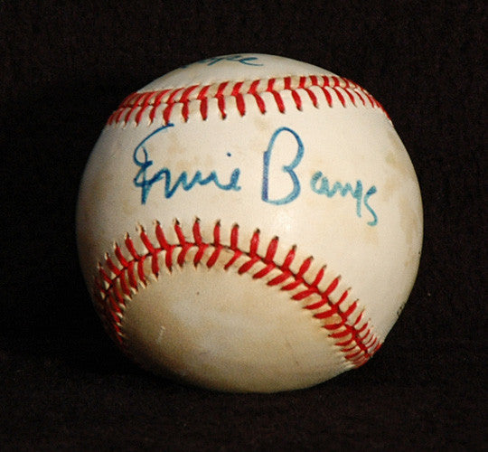Collectible Cubs Legend Ernie Banks Autograph Hand Signed Game Used NL Baseball - TnTCollectibles - 1