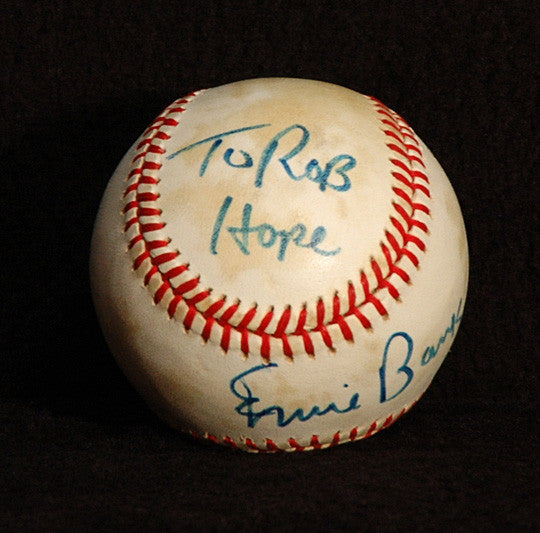 Collectible Cubs Legend Ernie Banks Autograph Hand Signed Game Used NL Baseball - TnTCollectibles - 2