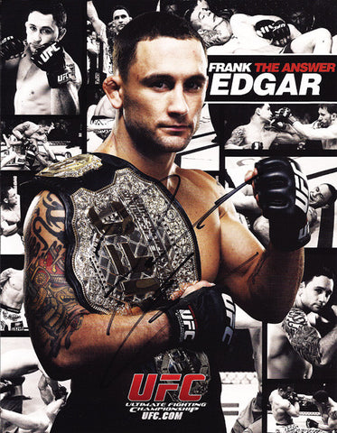 UFC Champion Frank 'The Answer' Edgar Autograph Hand Signed Photo - TnTCollectibles