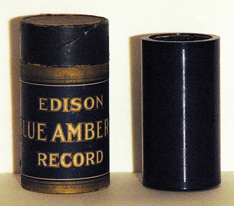 Antique Original Thomas Edison Blue Cylinder Record 1715 I Will Sing Of My Redeemer Mixed Quartet with Case - TnTCollectibles - 1