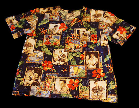 Authentic Elvis Presley Hawaiian Scrub Shirt Size M - TnTCollectibles - 1
