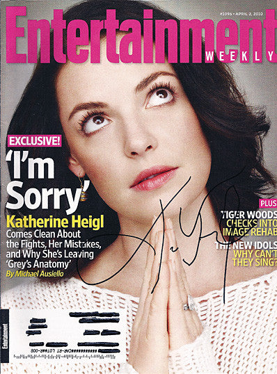 Collectible Katherine Heigl Autograph Hand Signed Entertainment Weekly Magazine - TnTCollectibles