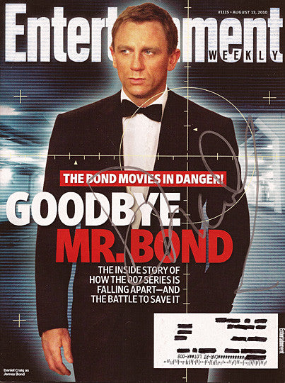 Rare James Bond Daniel Craig Autograph Hand Signed Entertainment Weekly Magazine - TnTCollectibles