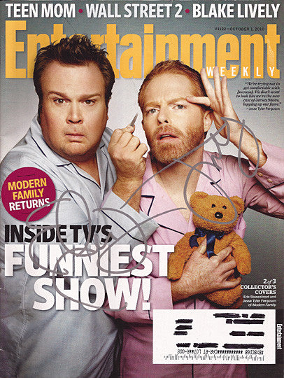 Modern Family BOTH Eric Stonestreet Jesse Tyler Ferguson Autograph Signed EW Mag - TnTCollectibles