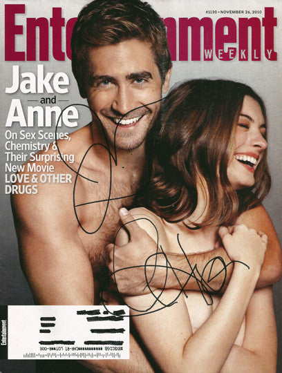 BOTH Jake Gyllenhaal and Anne Hathaway Autograph Signed Entertainment Weekly Mag - TnTCollectibles