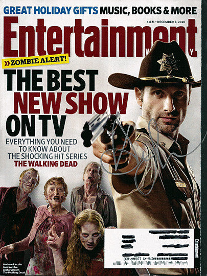 Walking Dead Andrew Lincoln Autograph Hand Signed Entertainment Weekly Magazine - TnTCollectibles