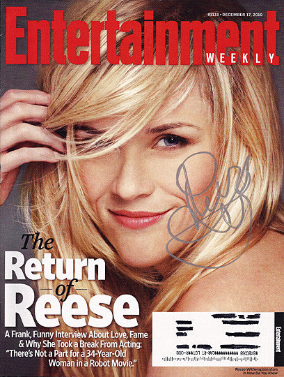 Rare Reese Witherspoon Autograph Hand Signed Entertainment Weekly Magazine - TnTCollectibles