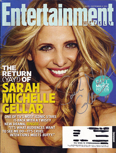 Crazy Ones Sarah Michelle Gellar Autograph Hand Signed Entertainment Weekly Magazine - TnTCollectibles