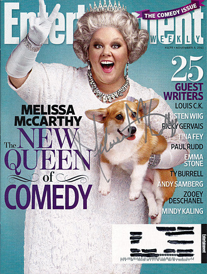 Mike and Molly's Melissa McCarthy Autograph Signed Entertainment Weekly Magazine - TnTCollectibles