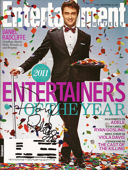 Daniel Radcliffe Harry Potter Autograph Signed Entertainment Weekly Magazine - TnTCollectibles
