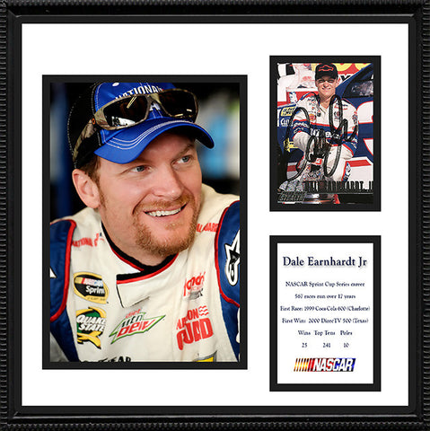 Framed and Matted NASCAR Dale Earnhardt Jr Signed Autograph and Photo - TnTCollectibles