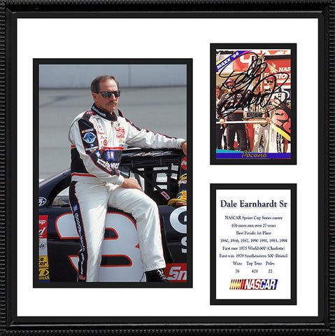 Framed and Matted NASCAR Dale Earnhardt Signed Autograph and Photo - TnTCollectibles
