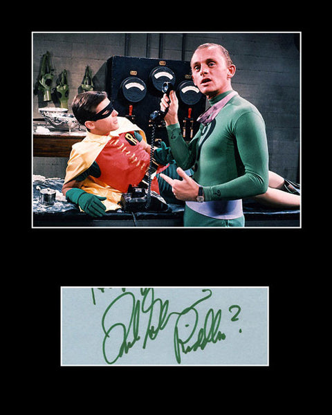 Framed Matted TV and Film Star Frank Gorshin Signed Autograph w/ Photo - TnTCollectibles