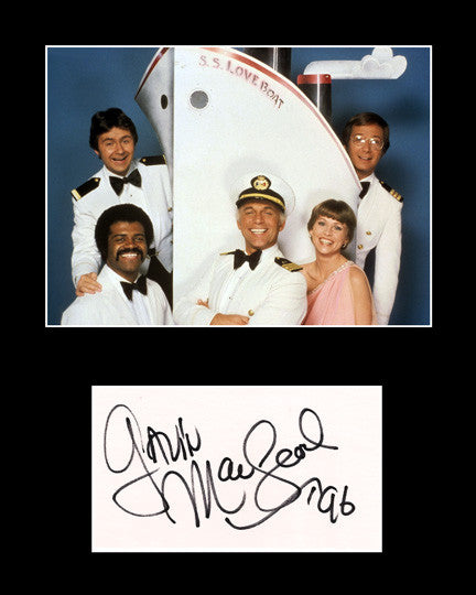 Framed Matted Television TV Star Gavin MacLeod Signed Autograph and Photo - TnTCollectibles