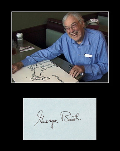 Framed Matted New Yorker Cartoonist George Booth Signed Autograph and Photo - TnTCollectibles