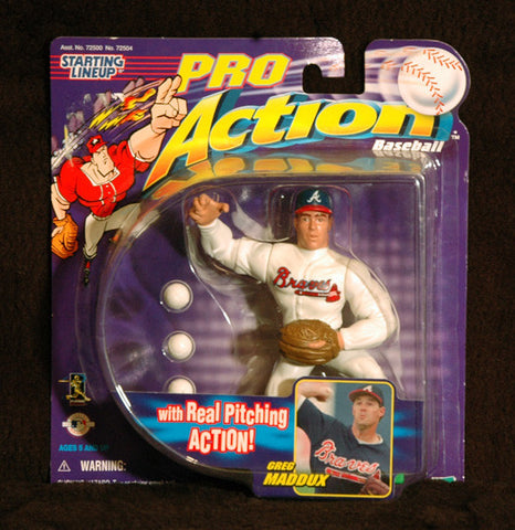 World Series Champion Greg Maddux Starting Lineup Real Pitching Action Figure - TnTCollectibles - 1