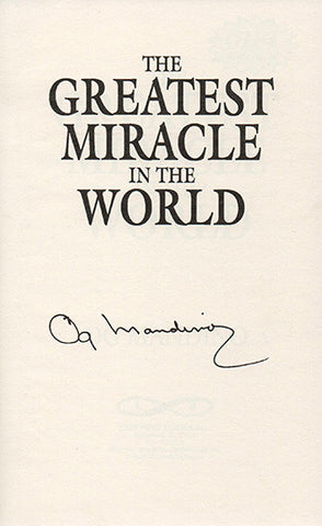 Best Selling Author Og Mandino Autograph Hand Signed Book Greatest Miracle In The World - TnTCollectibles - 1