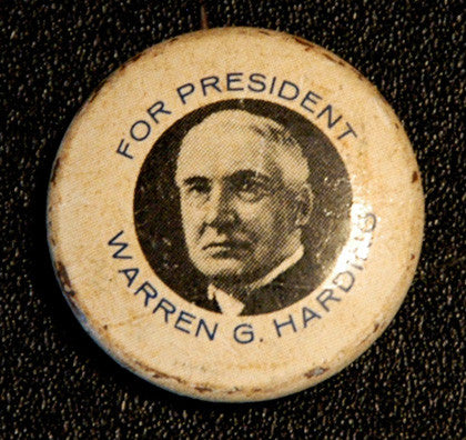 Antique Warren G Harding Presidential Election Campaign Pin Button - TnTCollectibles