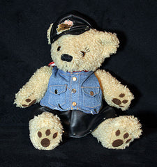 Collectible Harley Davidson Large Plush Harley Ol' Lady Bear 'Leather n Denim' - TnTCollectibles