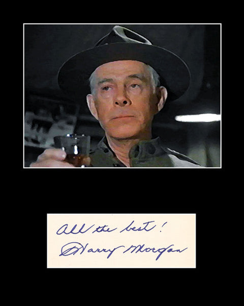 Collectible Dragnet MASH 4077 Harry Morgan Signed Autograph and Painting Print - TnTCollectibles