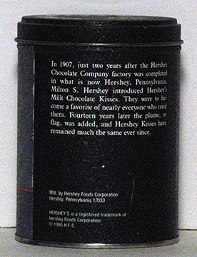 1995 Hershey's Kisses Milk Chocolate A Kiss For You Tin (14) - TnTCollectibles - 1