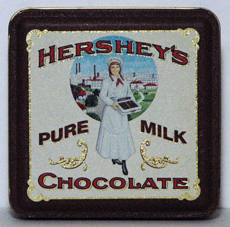 1992 Hershey's Pure Milk Chocolate Embossed Tin (01) - TnTCollectibles - 1