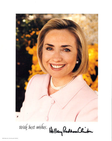 Hillary Rodham Clinton Autographed Hand-Signed 8x10 Photo - TnTCollectibles