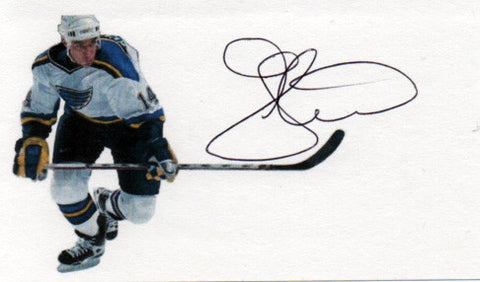 Stanley Cup Champion Geoff Courtnall Autograph Hand Signed Hockey Card - TnTCollectibles