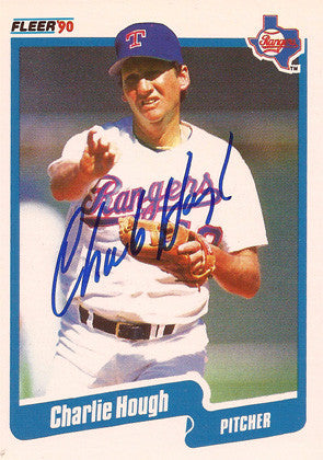 Charlie Hough Autographed Signed Texas Rangers Baseball Card - TnTCollectibles