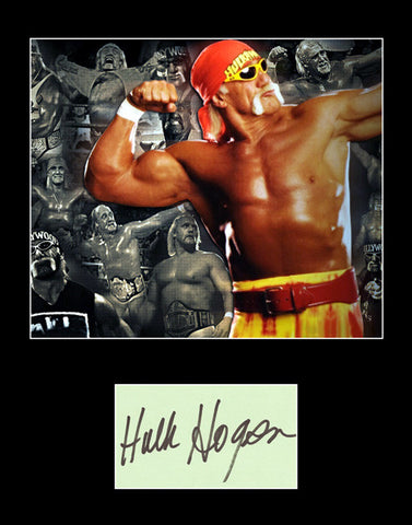 Framed Matted Wrestling Legend Hulk Hogan Hand Signed Autograph and Photo - TnTCollectibles