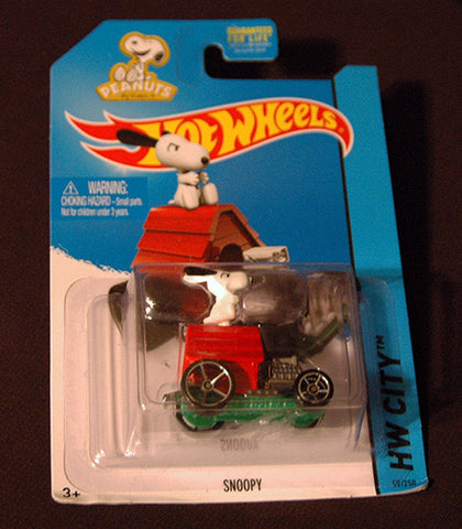 Hot Wheels Sealed HW City Peanuts Snoopy Hot Rod Dog House - TnTCollectibles