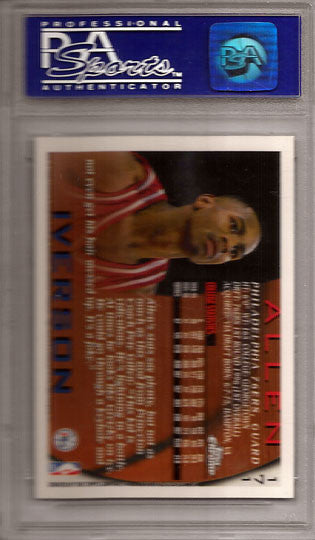 Allen Iverson Rookie 1996 PSA Graded 9 Topps Chrome #171 - TnTCollectibles - 2