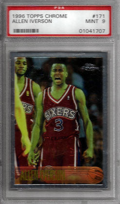 Allen Iverson Rookie 1996 PSA Graded 9 Topps Chrome #171 - TnTCollectibles - 1