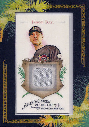 2008 Topps Allen and Ginter Relics JB Jason Bay Authentic Game Used Jersey Card - TnTCollectibles - 1