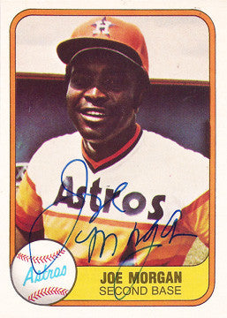 2x World Series Champion MLB Baseball Legend Joe Morgan Autograph Hand Signed Card HOF - TnTCollectibles - 1
