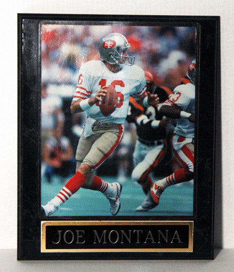 Football Legend Joe Montana San Francisco 49ers Wooden Photo Plaque - TnTCollectibles